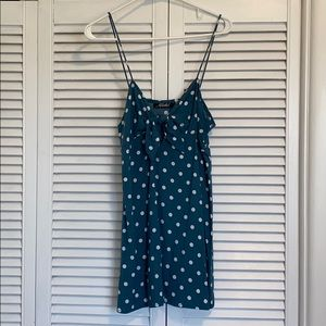 Revolve Motel Mini Tie Front Polka Dot Dress